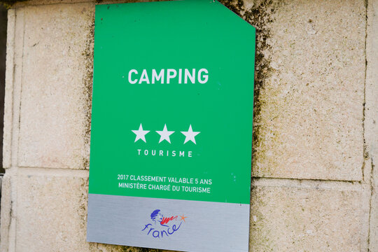 camping site three stars 3 french Quality Tourism  logo sign state-guaranteed brand france hospitality and tourist service