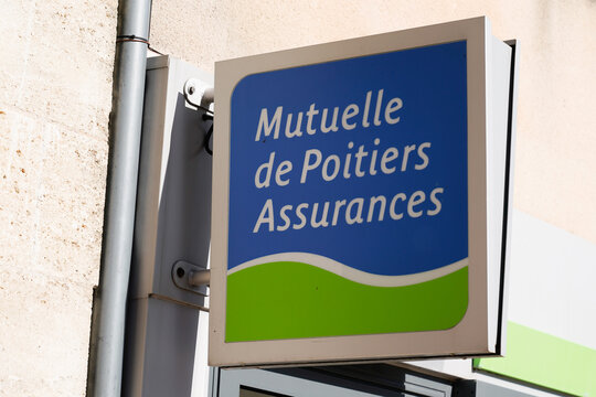 Mutuelle de poitiers assurances logo brand text and sign of insurance of French mutual agency office