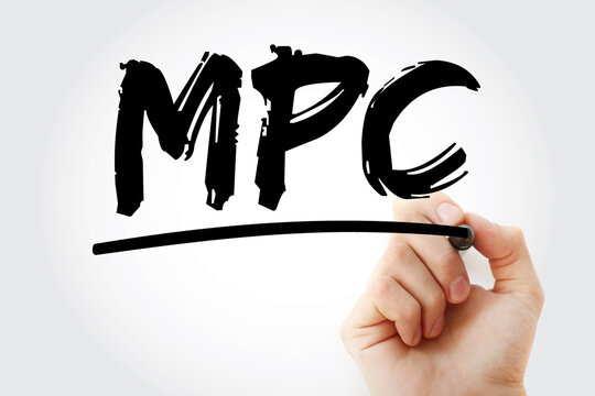 MPC - Marginal Propensity to Consume acronym with marker, business concept background