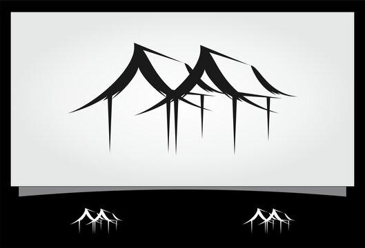 abstract shack vector logo