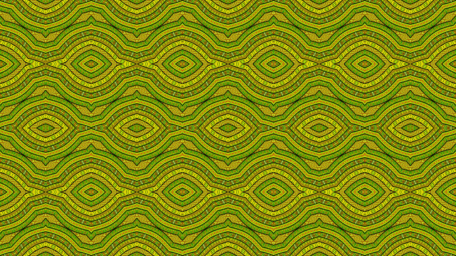 Colorful African fabric - Seamless pattern, illustration
