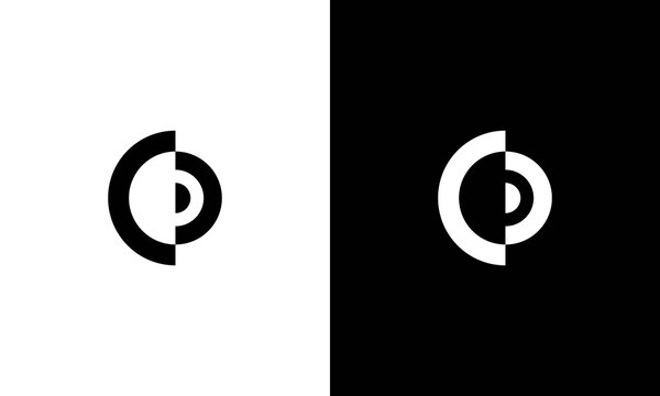 Minimal elegant monogram art logo. Outstanding professional trendy awesome artistic CD DC initial based Alphabet icon logo. Premium Business logo White color on black background