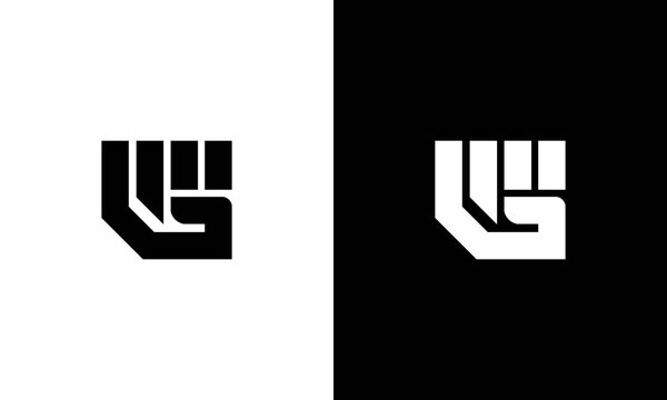 Alphabet letter icon logo G with a hand.