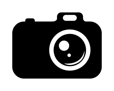 Appareil photo numérique. Digital camera. Vector icon.