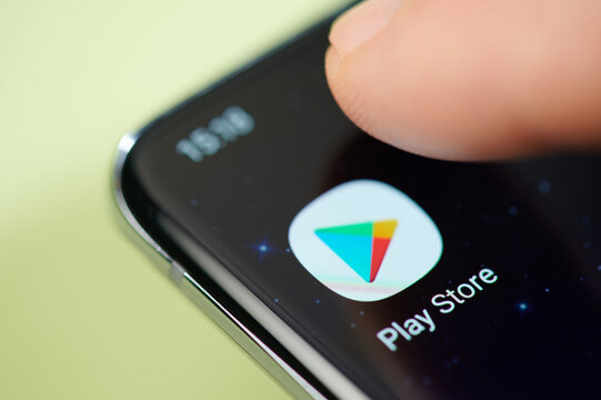 Play store app on smartphone screen