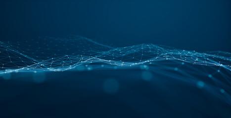 Internet and communication technology design concept.