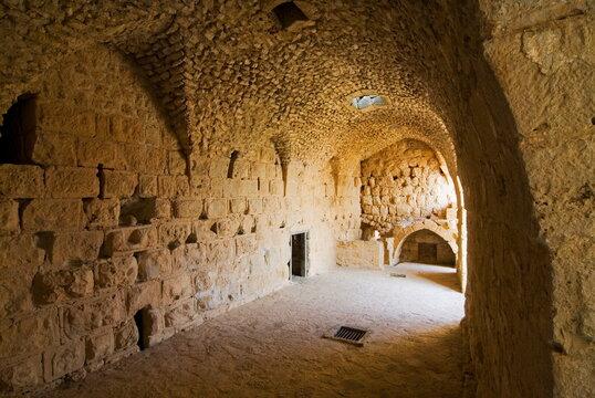 Interior of Muslim military fort of Ajloun, Jordan