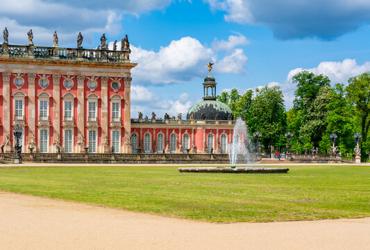 New Palace (Neues Palais) in Sanssouci park in spring, Potsdam, Germany
