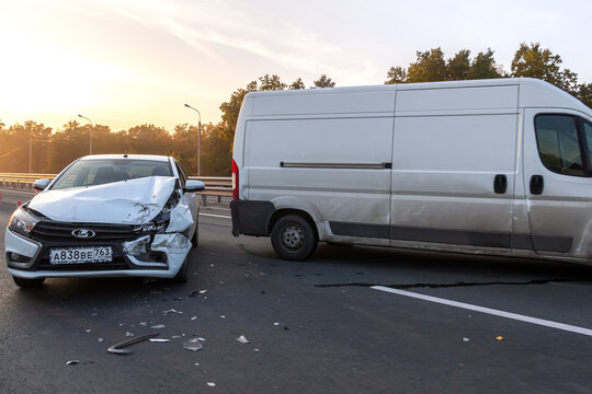 Car crash accident on the highway