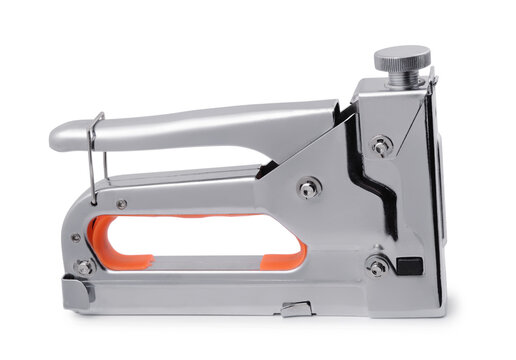 Side view of steel construction staple gun