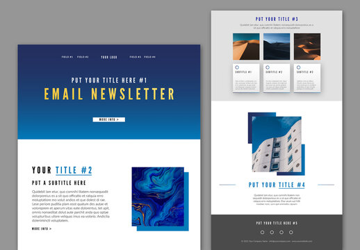 Email Newsletter Layout