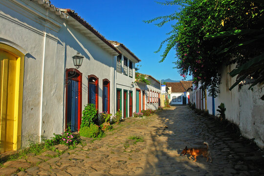 Paraty or Parati - well preserved Portuguese colonial and Brazilian Imperial city  located on the Costa Verde.