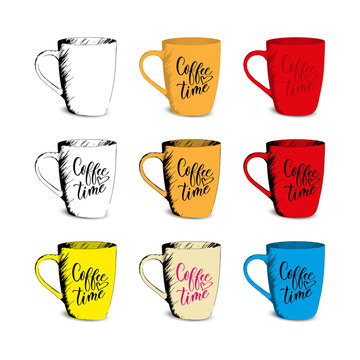 Hand Drawn Sketch Coffee Cup Vector Illustration