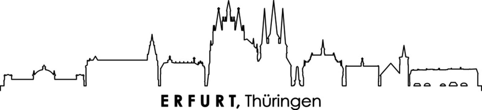 ERFURT Thüringen SKYLINE City Silhouette