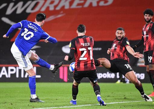 2021 EFL Championship Football Bournemouth v Cardiff Feb 24th