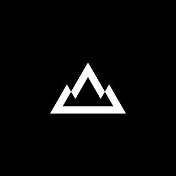 adventurous letter A logo vector