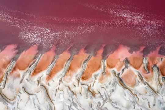 Pink Lake Drone