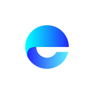 Letter E logo icon design template elements. vector illustration