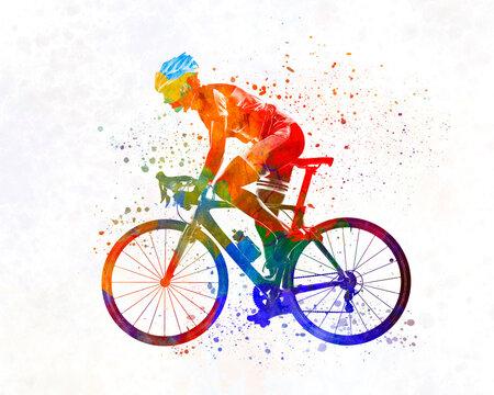 Woman triathlon cycling 01
