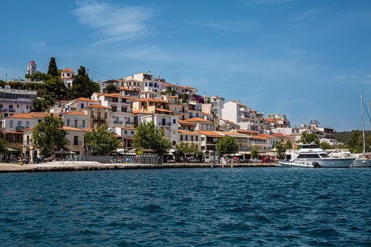 The port on the Greek island of Skiathos, Greece.
