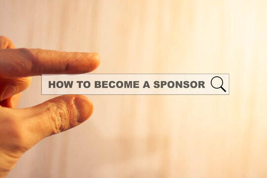 HOW TO BECOME A SPONSOR - a person studies a topic on the Internet