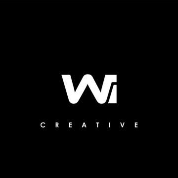 WI Letter Initial Logo Design Template Vector Illustration