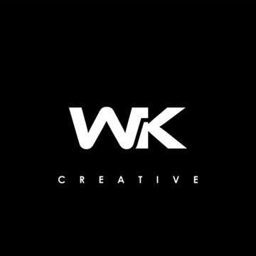 WK Letter Initial Logo Design Template Vector Illustration