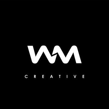 WM Letter Initial Logo Design Template Vector Illustration