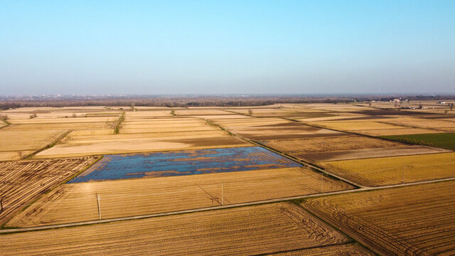 countryside landscape taken by the drone