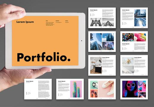 Clean and Modern Digital Portfolio and Photobook Layout