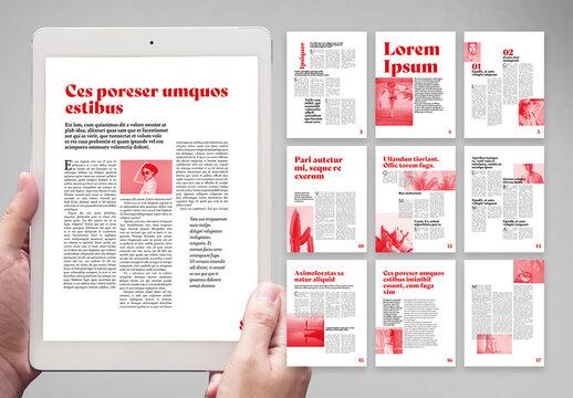 Modern Bicoloured Digital Magazine Layout