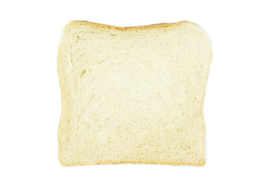 Toast bread isolated on white background top view