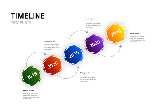 5 Option Infographic Timeline Layout