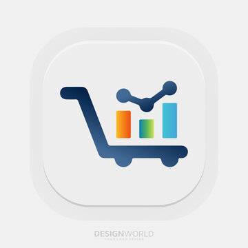 e-commerce business owners better understand the financial side of their business vector logo design idea.
