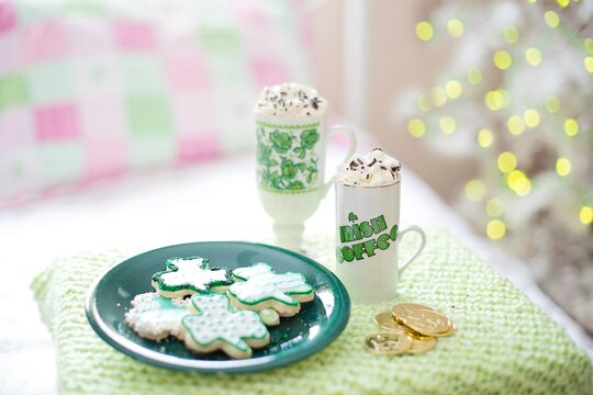 St Patricks Day Green Irish Coffee Mug