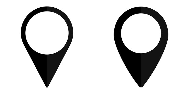 Pointer icon, flat graphic design template, symbol for map, vector illustration