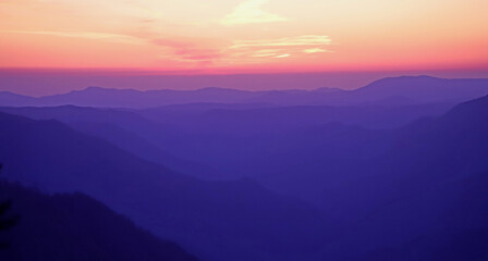 Colorful Sunset At Yosemite Mountain Part 2