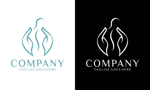 Massage Logo, relaxing , leisure, vector icon template.