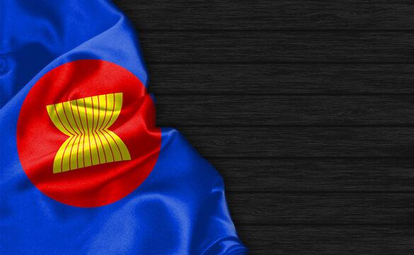 Closeup of ASEAN flag
