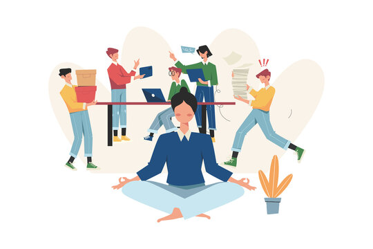 Meditation during work break health benefits of start and idea search
