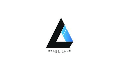 Fototapeta LI, IL, Abstract initial monogram letter alphabet logo design obraz