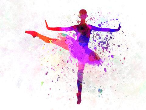 Woman ballerina ballet dancer dancing