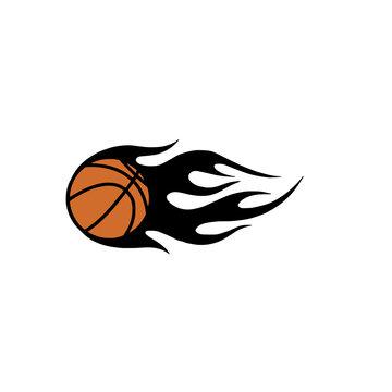 Fire basketball svg