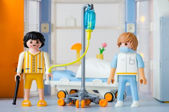 Lippstadt - Deutschland 24. Februar 2021 Playmobil Krankenhaus