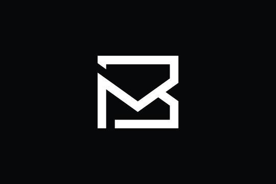 BM logo letter design on luxury background. MB logo monogram initials letter concept. BM icon logo design. MB elegant and Professional letter icon design on black background. M B BM MB