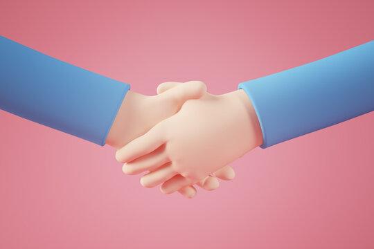 Cartoon hand shake
