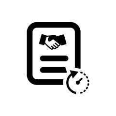 Obraz Agreement business icon - fototapety do salonu