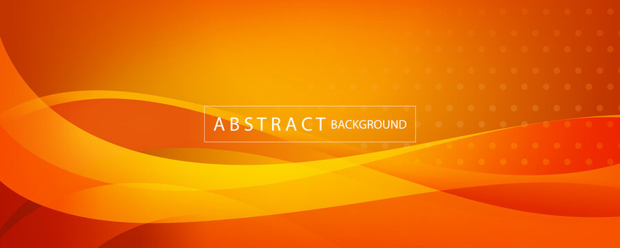 orange and yellow banner abstract background