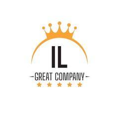 Fototapeta Initial Letter IL King Design Logo Concept, King Logo. obraz