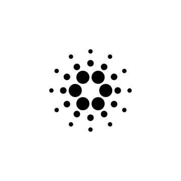 Cardano coin known as ADA icon isolated on white background. Digital currency. Altcoin symbol. Blockchain based secure crypto currency.in flat design, easy to modify for web elements.